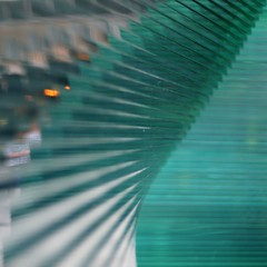 convoluted (Cosimo Matteini) Tags: sculpture orange green london pen 50mm dof shoppingcentre olympus victoria f18 zuiko perspex plexiglass m43 mft cardinalplace epl1 cosimomatteini