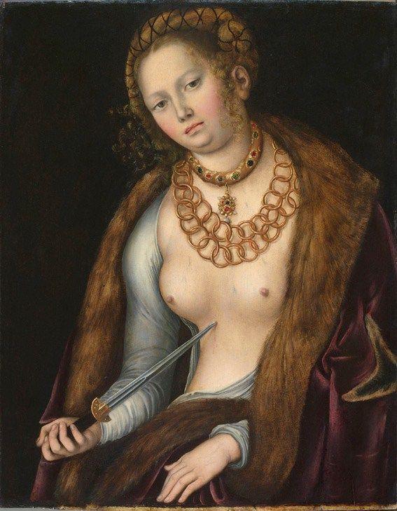 Lucas Cranach L'Ancien, Lucrèce (1510-1513)