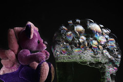 Dragon 557/365 (cazphoto.co.uk) Tags: soap purple bubbles dai soapbubbles dailydragon oneobject365daysproject 110711 canoneos7d dragon365 canon60mmefsf28usm yn560speedlite daijuly2011