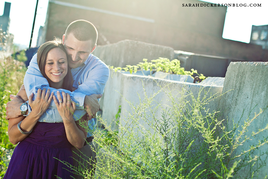 West Bottoms Kansas City engagement portraits