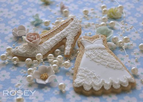 Classic Lace Wedding Cookie - 3 by rosey sugar