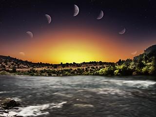 One night sky