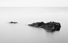 Hovs Hallar (Hannes R) Tags: sea bw nature water rock blackwhite skne rocks sweden scania hovshallar hov bstad