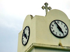Crossed time (markb120) Tags: tower clock church cross time greece ellada kamena vourla
