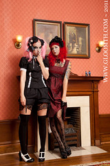 Classwork (gloomth) Tags: white socks clothing shoes uniform gothic goth mint creepy nurse mansion legwarmers tuk shiro sundress housecoat otks gloomth