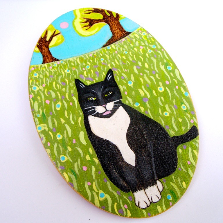 Garden Cat ~ Large Fridge Magnet