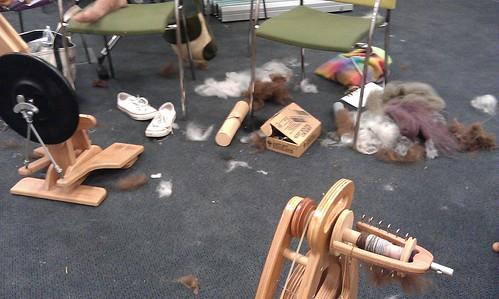 Spinning detritus