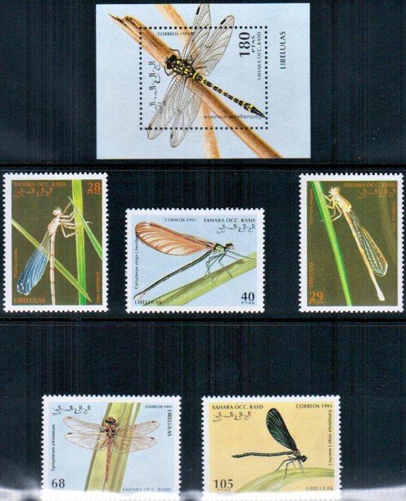 Známky Západná Sahara 1995, séria vážky