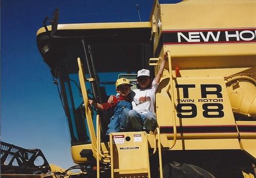 Brandon & James on combine in '97