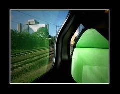Mensen (Theo Kelderman) Tags: people man holland netherlands nederland trein mensen reflectie 2011 spoorrails theokeldermanphotography treinhaarlemdenhaag