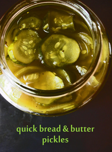 quick bread and butter pickles