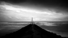 Seaford jetty1 (shiatsuJIM) Tags: longexposure sea sky blackandwhite bw beach clouds landscape panasonic slowshutterspeed 14mm gh2 28mmequiv 10stopfilter