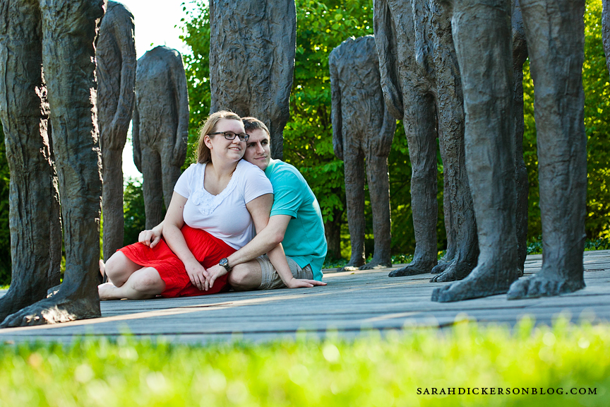 Nelson-Atkins Museum of Art Kansas City engagement photographers