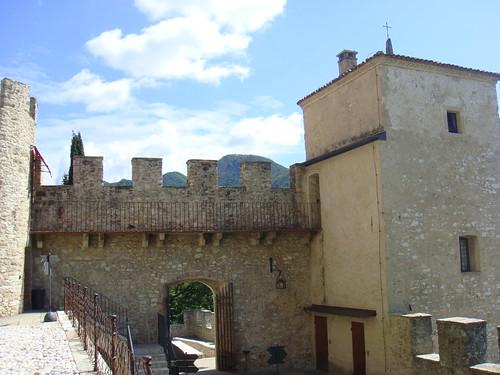 A la salida del funicular en el castillo