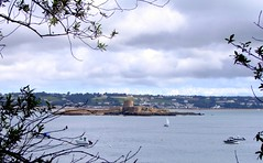 St Aubin's Fort from Belcroute Bay