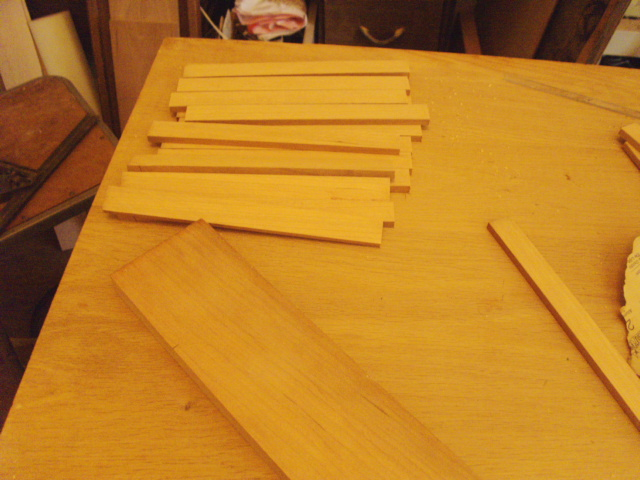 Cut a bunch of strips on the tablesaw...