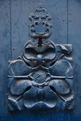 Door Decoration and Knocker, Pau (Peter Cook UK) Tags: door france knocker pau