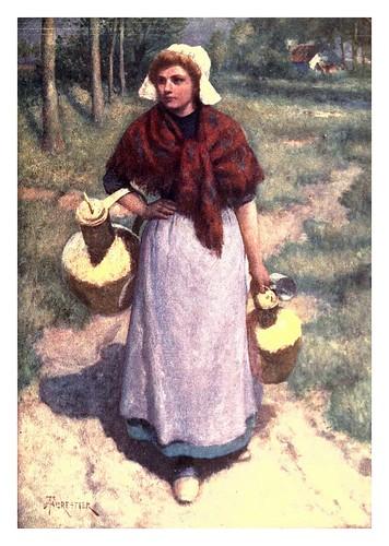 021-Una muchacha de campo flamenca-Belgium 1908- Amédée Forestier