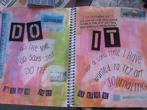My very first art journal spread!