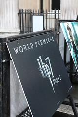 Harry Potter Premiere - HP7 Part 2 sign