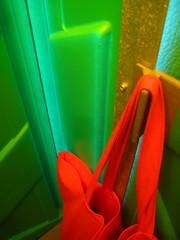 my bag hangs on the door