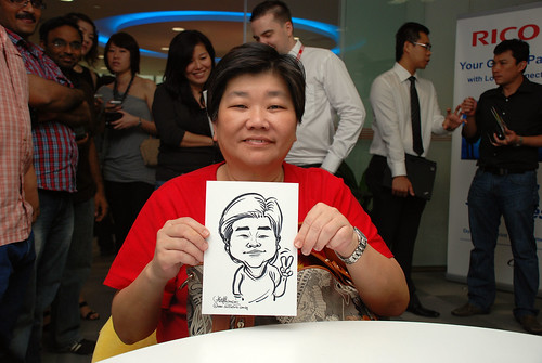 Caricature live sketching for Ricoh Roadshow - 31