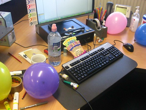 Birthday/last day at work