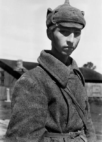 Joven prisionero del Ejército Rojo en Minsk