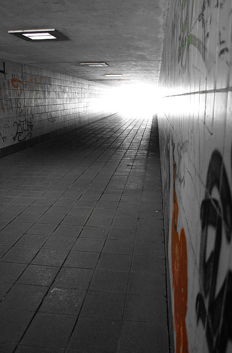 Unterführung (#endlessly#) Tags: City Light Red White Black Rot Germany  Licht