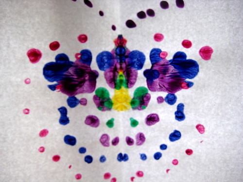 painting with cotton buds butterfly