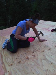 Pepper nailing down roofing