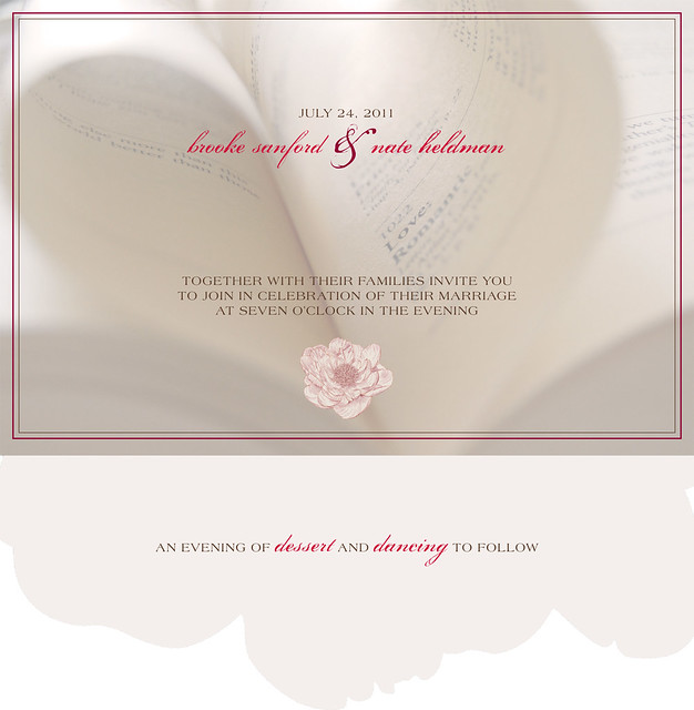 brooke and nate {wedding invitation design}