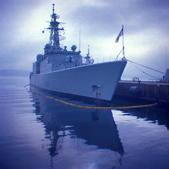 HMCS Iroquois (Evan MacPhail Photography) Tags: canada reflection film 35mm war ship novascotia kodak navy mini canadian her professional destroyer diana halifax warship iroquois hmcs ektar majestys