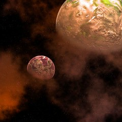 nibiru_clash (planetarytraveler1) Tags: art illustration digital images x planet astronomy eris planetx tyche thedestroyer nibiru wingeddisc