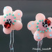 Earring : Pink Flower Blossom Ladybug