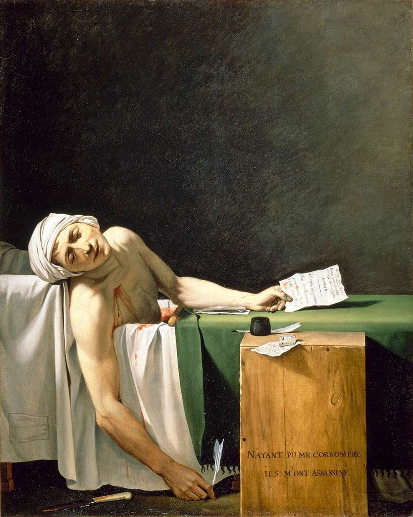 Jacques Louis David, La Mort de Marat (1793)