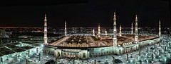 Mescidi Nebevi'de Gece (Yavuz Alper) Tags: longexposure panorama night nikon sarabia stitched gece kutsal medine belde ravza mescidi nebevi d7000