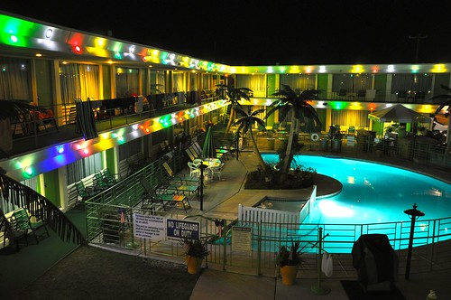 The Caribbean Motel Wildwood NJ, Night Shot