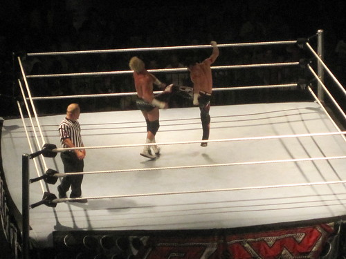 Evan Bourne kicks Dolph Ziggler in Peoria