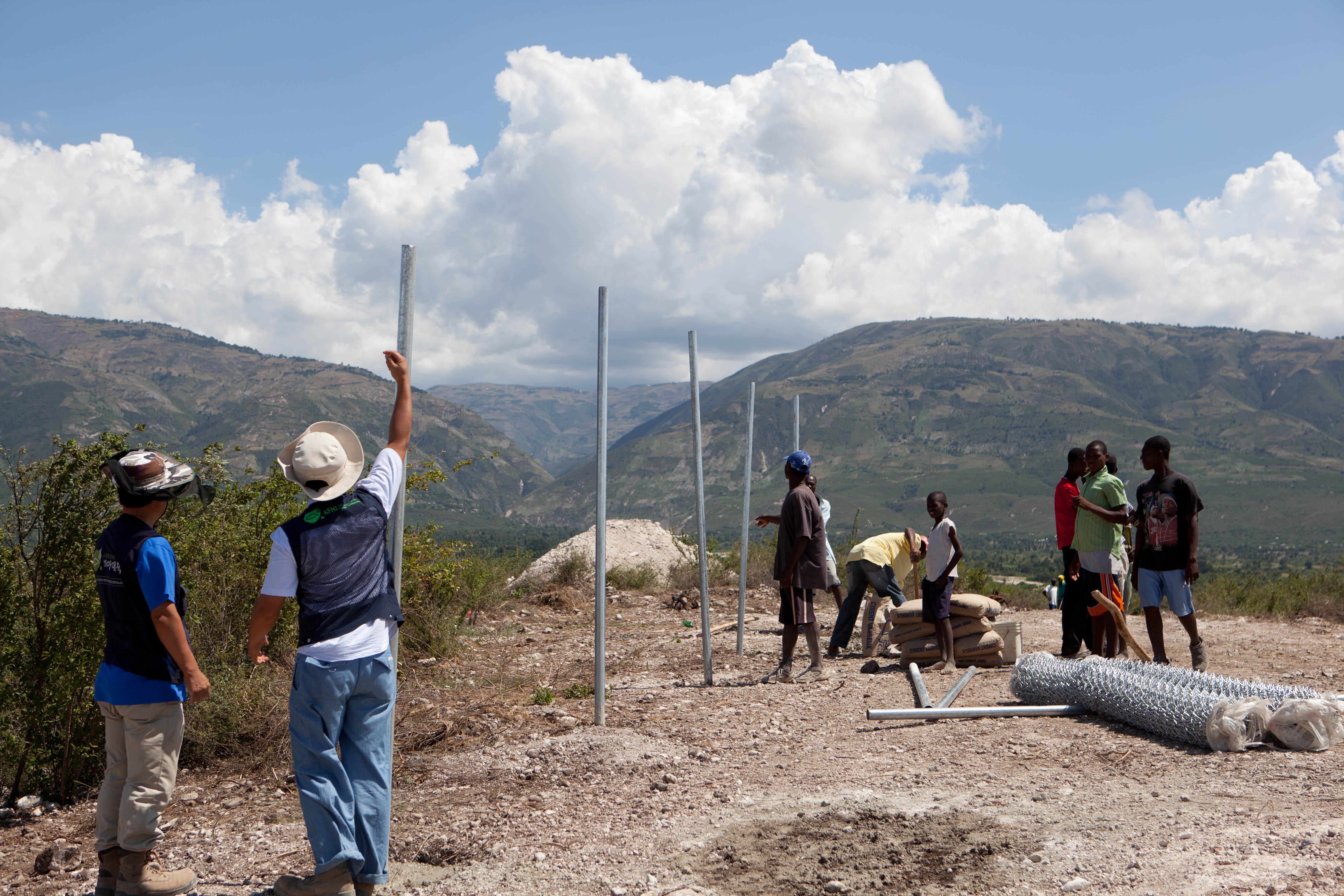 2011 아이티단기선교 건축현장 (8)