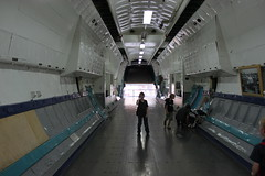 Frachtraum: Blickrichtung Heckladerampe
