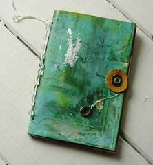 Green Art Journal (Jennibellie) Tags: art girl metal speed pencil ink painting book design sketch mixed artwork media paint artist acrylic image handmade drawing diary paintings journal arts creative drawings flip blank artists painter watercolour through create draw etsy recycle visual scrap bookbinding handstitched embellish handbound upcycle bookbind