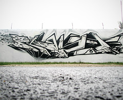 KAST - AFX (Kast - AFX) Tags: world street city bw white streetart black color art wall graffiti paint hungary peace crystal earth budapest apocalypse spray clear halloffame spraypaint fila afx hof kast 2011 kest filatorigt fanatix
