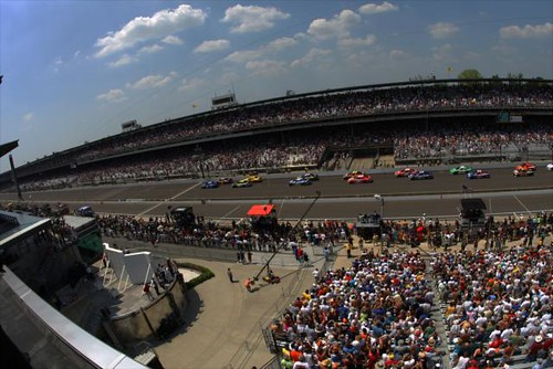 The start of the 2011 Brickyard 400 presented by Big Machine Records