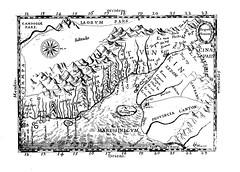 1651 - Carte de l'Annam par de Rhodes indiquant la 'Cocincina' (à gauche, i.e. au sud) et le 'Tvnkin' (à droite, i.e. au nord)