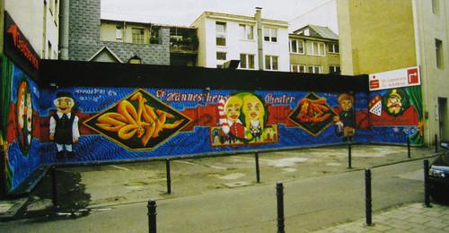 Hännescchen Wandbild von SEAK Kölner Innenstadt