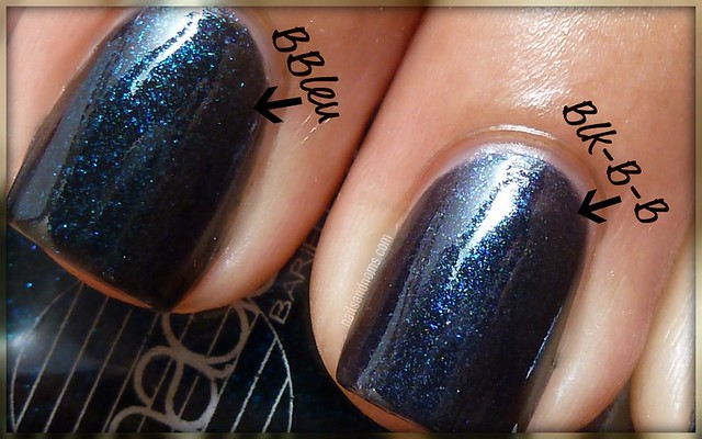 Barielle - Blackened Bleu vs. China Glaze - Blk-Bila-Bong