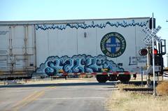 SILK on BNSF 793544 20101119 Harrold TX (rmccallay) Tags: silk graffit dabia