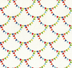 bunting scallop retro