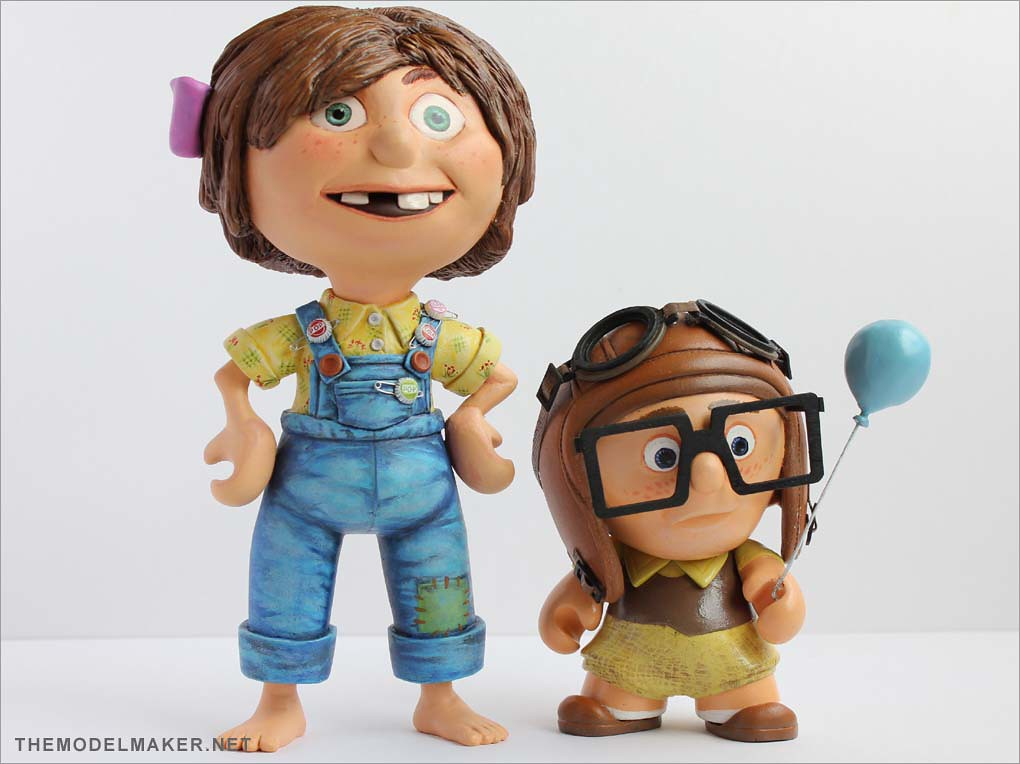 young ellie doll from disney pixar up themodelmaker